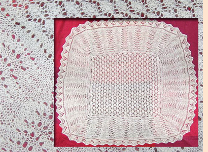 Brown and white shawl